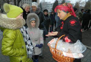 """""""Бахмут Український"""" вітає містян біля святкової ялинки"""