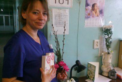 """Волонтери """"Бахмута Українського"""" привітали жінок-медиків."""
