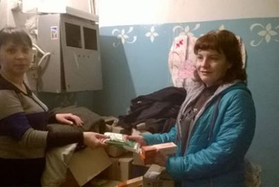 "Volunteers of ""Bakhmut Ukrainian"" helped to congratulate the village old women"
