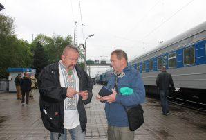 Зустріч волонтерського потяга (ФОТО)