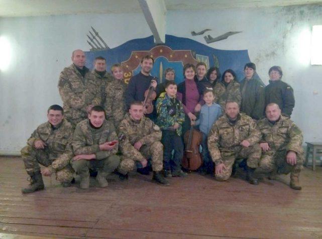 Творча родина Шутко виступила перед бійцями 54 бригади