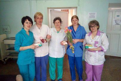 Вітання у свято жінок до медиків Бахмута