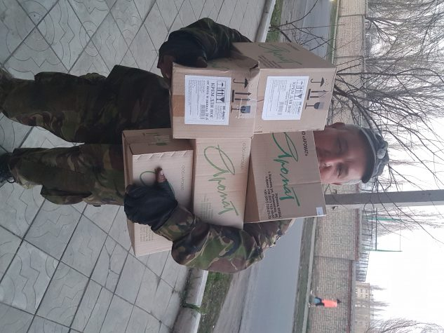 """Волонтери Бахмуту Українського передали допомогу до бійців батальйону """"Айдар"""""""