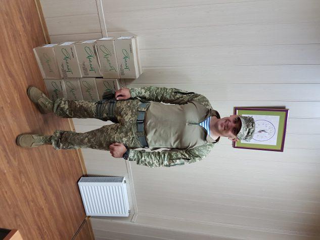 """Волонтери передали на фронт продукцію ТОВ """"Аромат"""""""