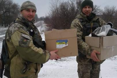 """""""Бахмут Український"""" передав через СІМІКів речі на передову"""