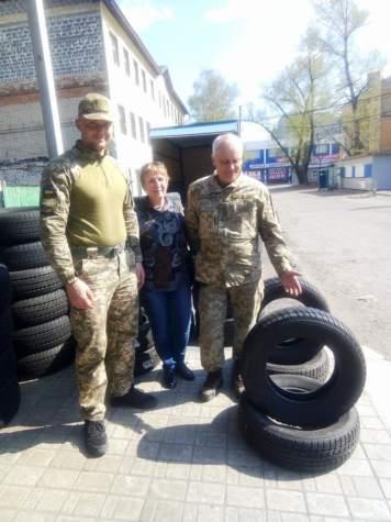 """""""Бахмут Український"""" допоміг придбати гуму на бойовий автомобіль"""