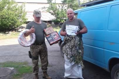 Бійці на передові отримали від волонтерів необхідні речі!