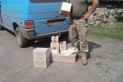 Волонтери передали креми для бійців на передову