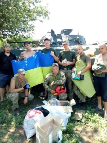 """Прапори від """"Бахмута Українського"""" майорять на всій лінії фронту"""