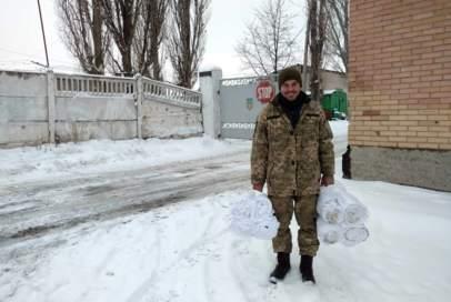 З Краматорська передали мішки для укріплення передової