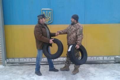 """""""Бахмут Український"""" придбав два колеса для авто капелана"""