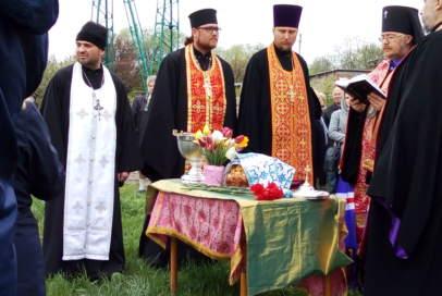 У Бахмуті освятили місце під храм ПЦУ (ФОТО)